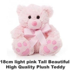 Pink Plush 18cm tall teddy