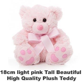 Pink Plush 18cm tall teddy