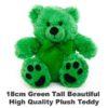 Green Plush 18cm tall teddy