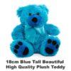 Blue Plush 18cm tall teddy