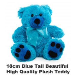 Blue Plush 18cm tall teddy