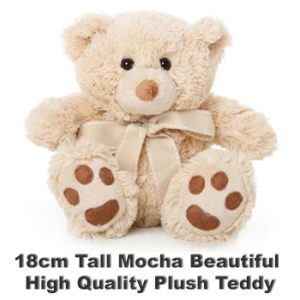 Mocha Plush 18cm tall teddy