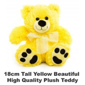 Yellow Plush 18cm tall teddy