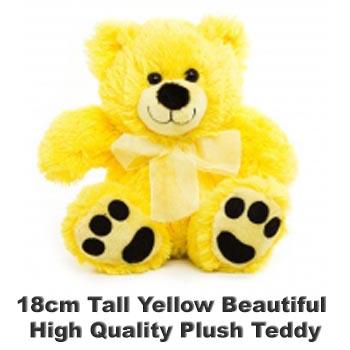 Yellow Plush 18cm tall teddy