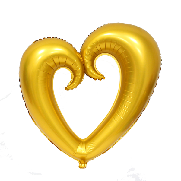 GOLD SCROLL HEART 75CM