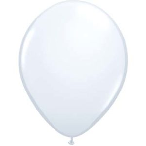 Pearl White 28cm Latex Balloons 100 BAG