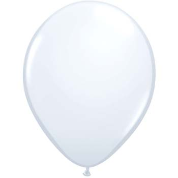 Pearl White 28cm Latex Balloons 100 BAG