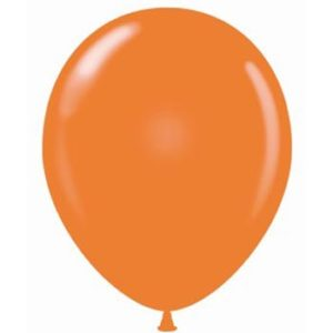 ORANGE 28cm Latex Balloons 100 BAG