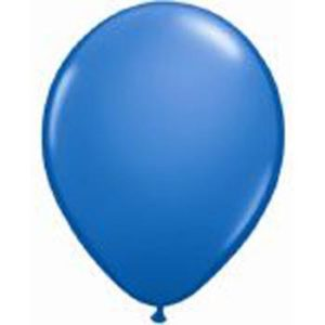 BLUE 28cm Latex Balloons 100 BAG