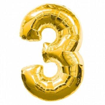 NUMBER 3 GOLD FOIL 1 METRE