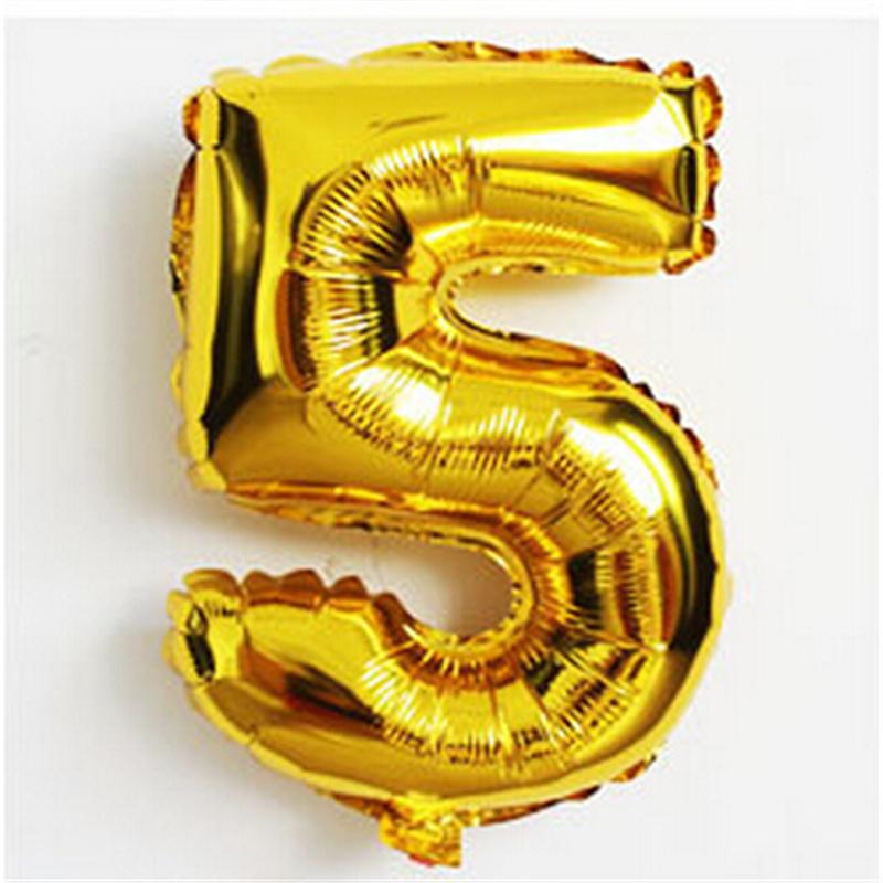 Number 5 Gold Foil 1 Metre Sparkle Lites Australia