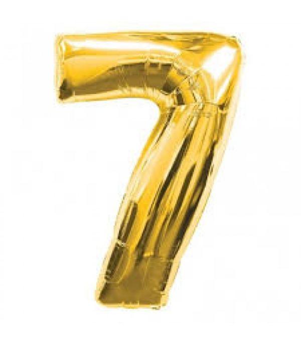 NUMBER 7 GOLD FOIL 1 METRE