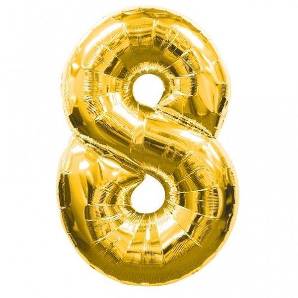 NUMBER 8 GOLD FOIL 1 METRE