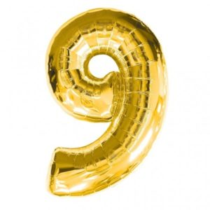 NUMBER 9 GOLD FOIL 1 METRE