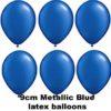 METALLIC BLUE 9cm Latex Balloons 100 BAG