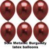 METALLIC BURGUNDY 9cm Balloons 100 BAG