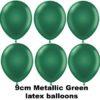 METALLIC GREEN 9cm Balloons 100 BAG
