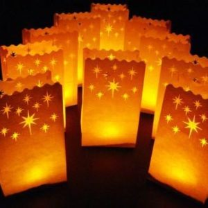 Luminary Bag Star Pattern 10 PACK