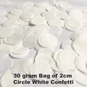 White Confetti 30 gram bag