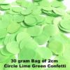 Lime Green Confetti 30 gram bag