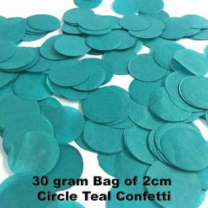 Teal Confetti 30 gram bag