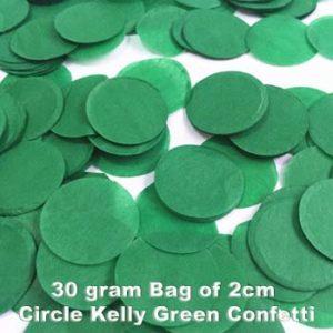 Kelly Green Confetti 30 gram bag