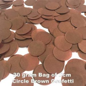 Brown Confetti 30 gram bag