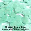 Mint Green Confetti 30 gram bag
