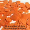 Orange Confetti 30 gram bag