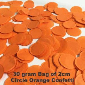 Orange Confetti 30 gram bag