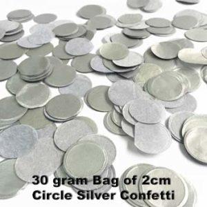 Silver Confetti 30 gram bag