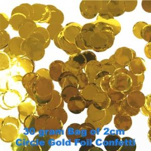 Gold Foil Confetti 30 gram bag