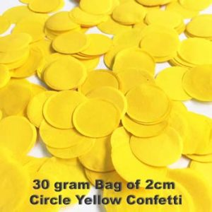 Yellow Confetti 30 gram bag