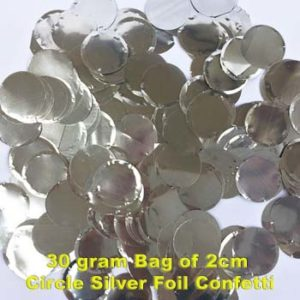 Silver Foil Confetti 30 gram bag