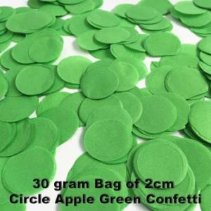 Apple Green Confetti 30 gram bag