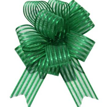 Dark Green Pull Bow