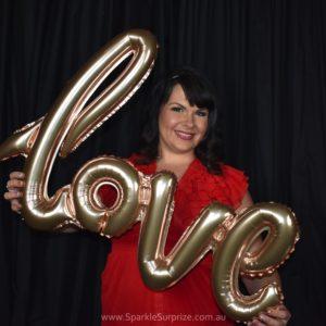 Love Script Rose Gold