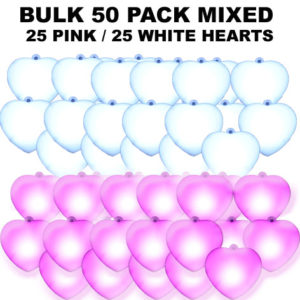 50 Bulk Mixed Pink & White 50 pack