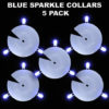 Blue Sparkle Collars 5 pack