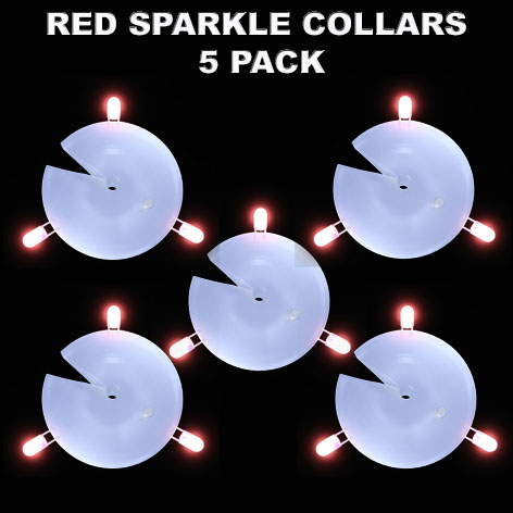 Red Sparkle Collars 5 pack