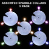 Assorted Sparkle Collars 5 pack