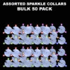 50 Assorted Sparkle Collars 50 pack