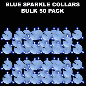 50 Blue Sparkle Collars 5 pack