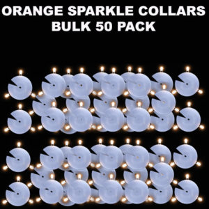 50 Orange Sparkle Collars 5 pack