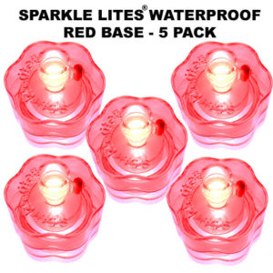 Red Sparkle Lites® Bases 5 pack