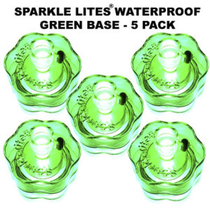 Green Sparkle Lites® Bases 5 pack