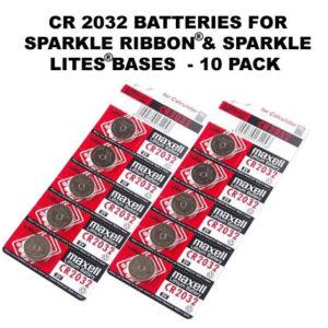 10 Batteries CR2032