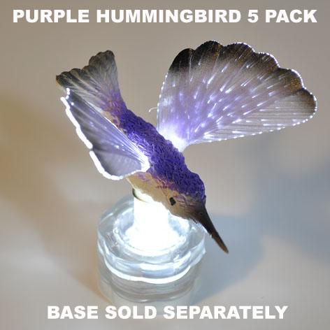 Purple Hummingbird 5 pack