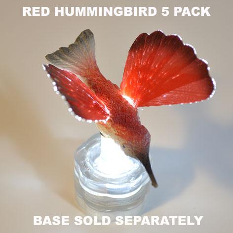 Red Hummingbird 5 pack