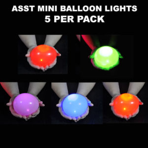 Asst Mini Balloon lights 5 pack